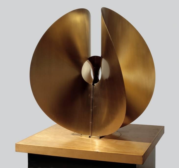 Bronze Spheric Theme circa 1960 by Naum Gabo 1890-1977