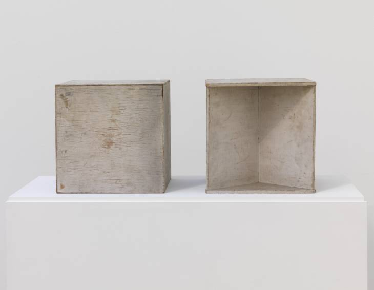 Two Cubes (Demonstrating the Stereometric Method) 1930 by Naum Gabo 1890-1977