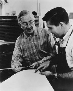 josef-albers-and-kenneth-tyler-discussing-tylers-registration-device-at-the-tamarind-lithography-workshop-1963-photographer-unknown