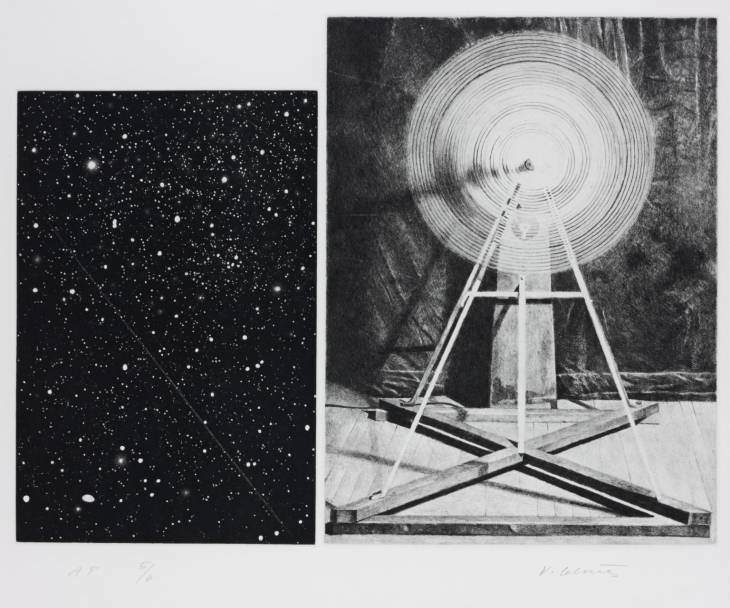 Concentric Bearings A 1984 by Vija Celmins born 1938