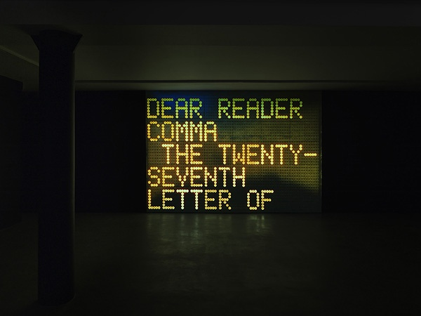Dear-Reader_Installation-View_Shannon-Ebner_The-Electric-Comma_SCHQ_Sout...