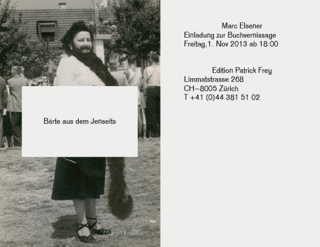 """image-BUCHVERNISSAGE- Marc Elsener, """"Bärte aus dem Jenseits"""""""