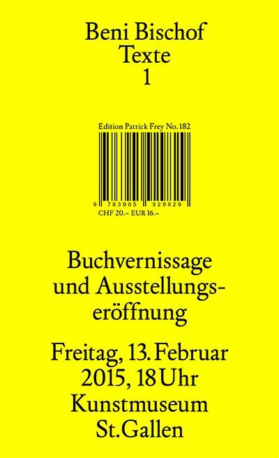 image-Buchvernissage- «Beni Bischof Texte»