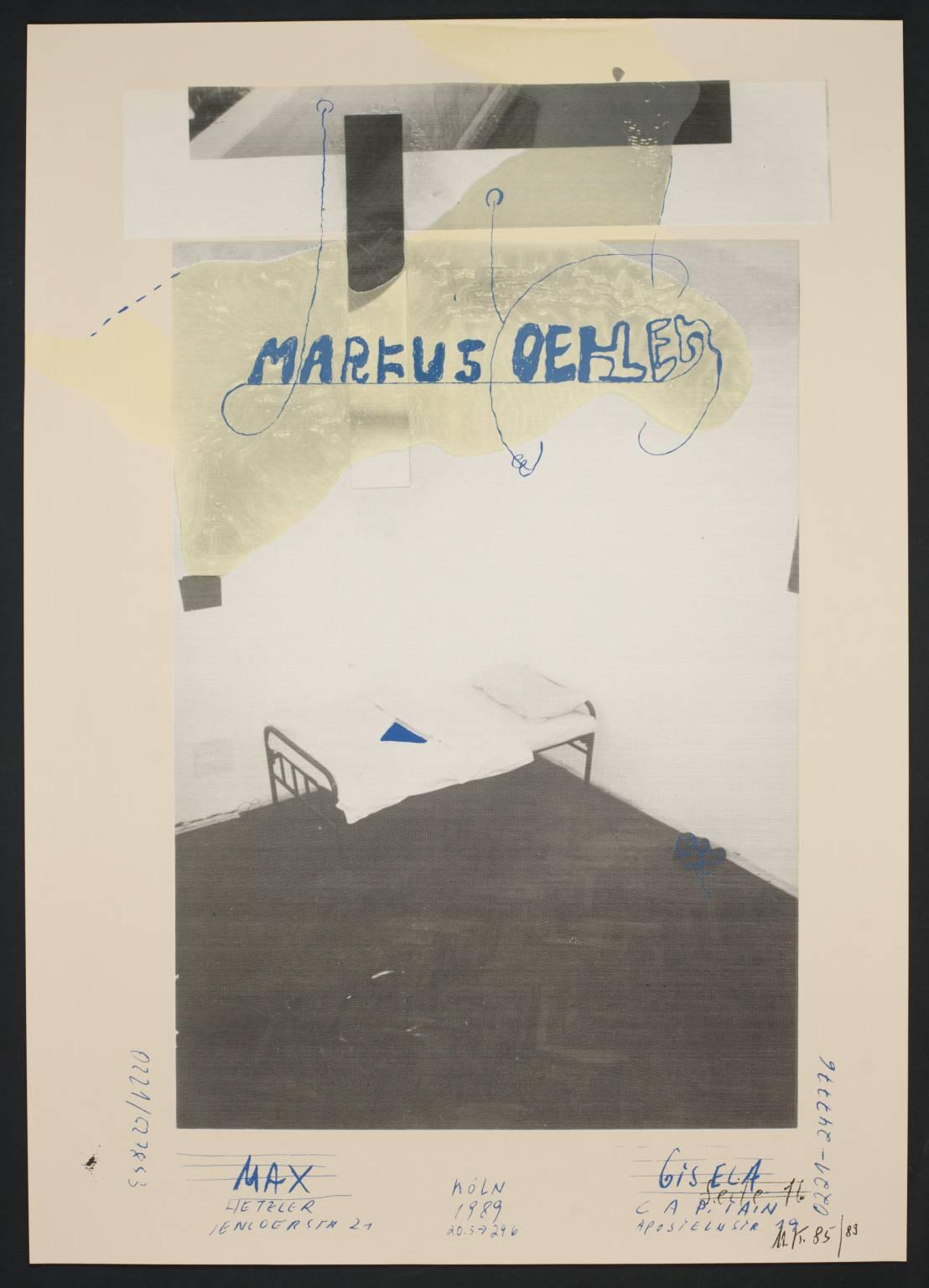 Markus Oehlen 1989 Martin Kippenberger 1953-1997 Purchased 2005 http://www.tate.org.uk/art/work/P79128