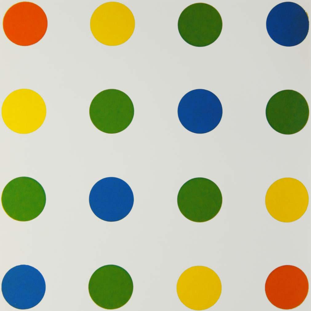 Francois_Morellet,_Bleu-Vert-Jaune-Orange,_1954