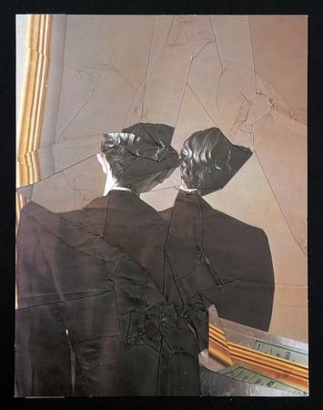 Jiří Kolář, 'Dvě dámy' [Two Ladies], 1985, collage, 24,5 x 18,5 cm