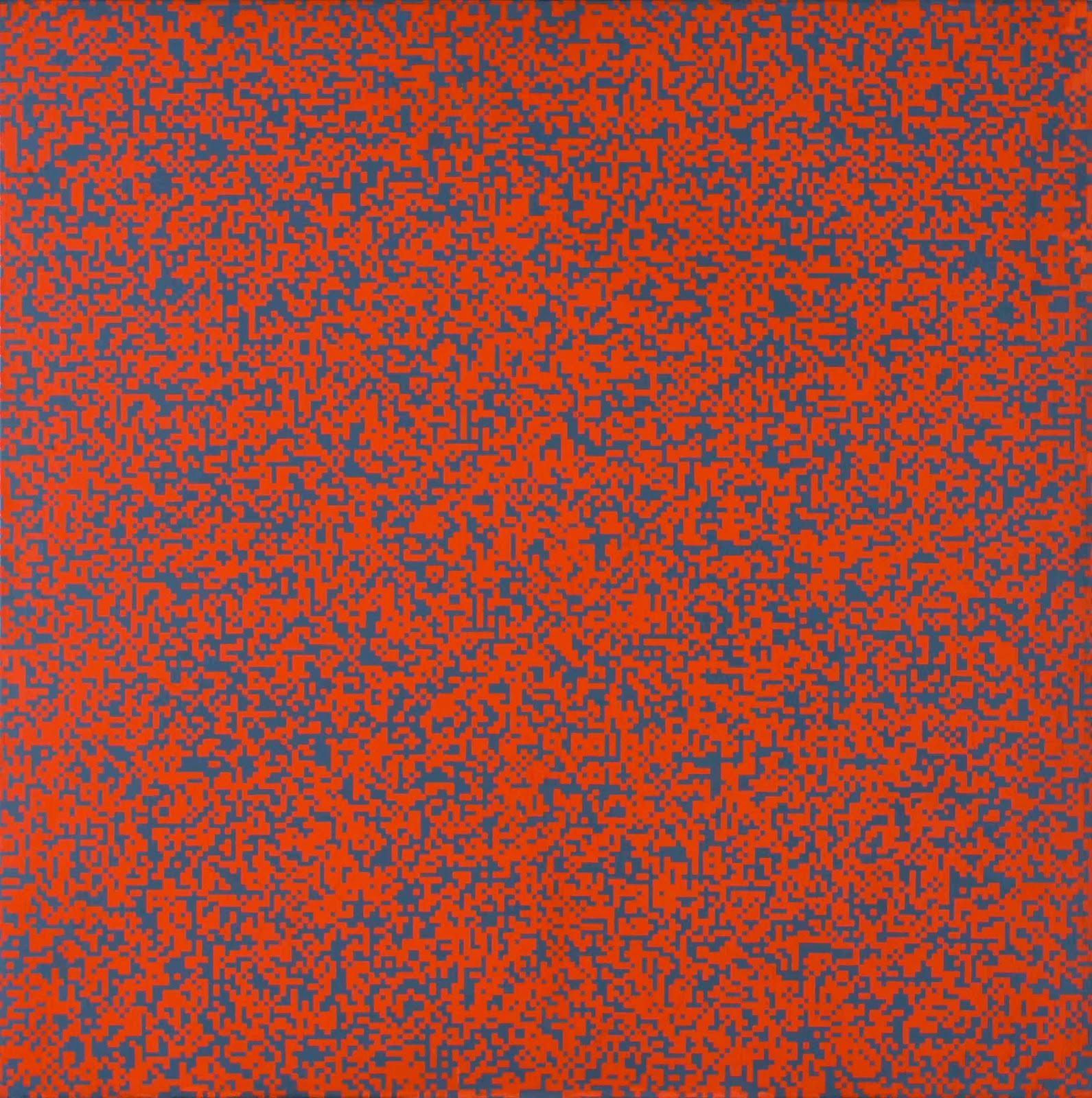 R_partition_al_atoire_de_40.000_carr_s_suivant_les_chiffres_pairs_et_impairs_d_un_annuaire_de_t_l_phone_50_orange_50_gris_1961