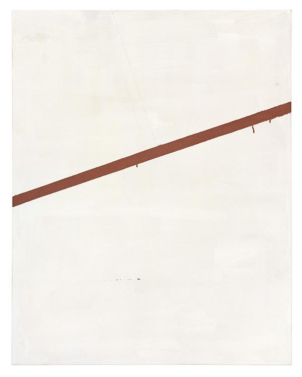Michael-Krebber-Aspirin-2002-Lacquer-pencil-and-emulsion-on-cotton-120-x-95cm-Thomas-Borgmann