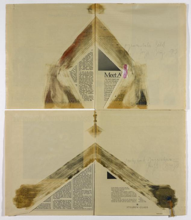 Pyramidal image 1979 Joseph Beuys 1921-1986 ARTIST ROOMS Acquired jointly with the National Galleries of Scotland through The d'Offay Donation with assistance from the National Heritage Memorial Fund and the Art Fund 2008 http://www.tate.org.uk/art/work/AR00687